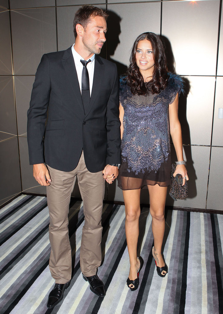 Adriana Lima together with Marko Jaric.