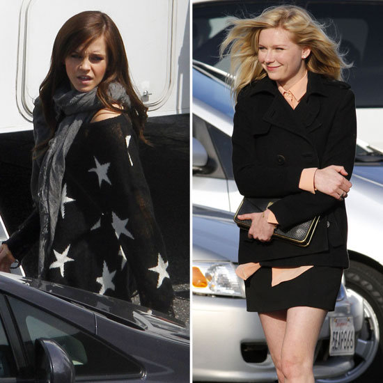 Emma Watson and Kirsten Dunst Get Down to Work on The Bling Ring