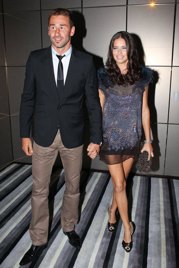 Adriana Lima held hands with Marko Jaric.