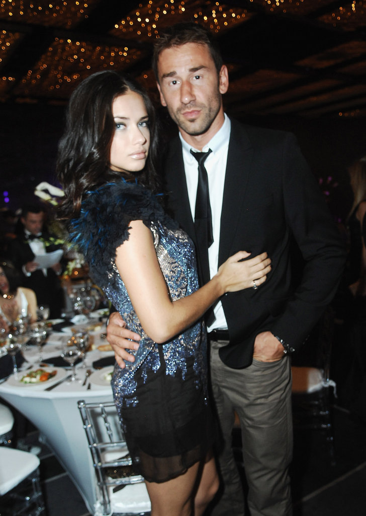 Adriana Lima with her husband.