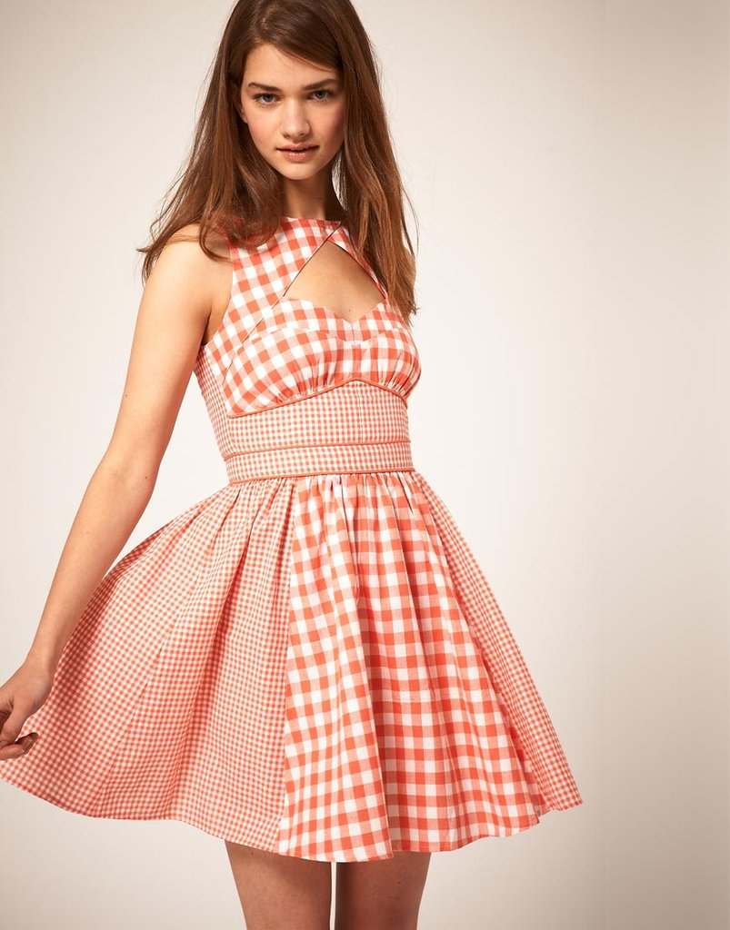 A sweet dose of gingham meets a sexier neckline for a standout little dress.  Asos Summer Dress in Gingham Check ($45)