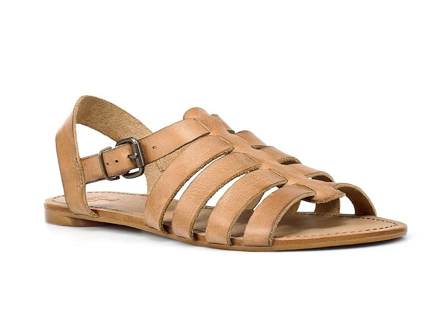 Wear these low-key strappy sandals with a pair of tailored navy shorts and a textured sweater for a clean-cut look. Zara Roman Vamp Shoe ($50)