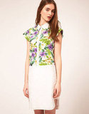 Add tropical florals to your pointed-collar affair. ASOS Shirt Dress With Tropical Print Panel ($43)