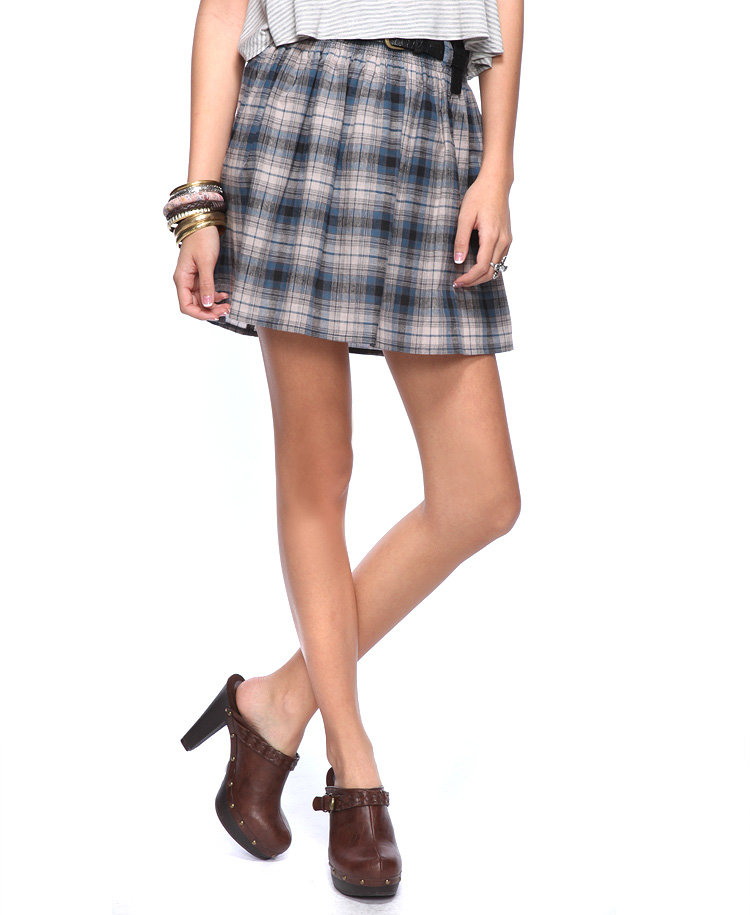 There's nothing like traditional plaid print to keep the schoolgirl marm in check. Forever21 Smocked Preppy Plaid Skirt ($11)
