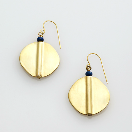 Gold pendant earrings will add instant polish to your look. Ralph Lauren Gold Disk Drop Earrings ($38)