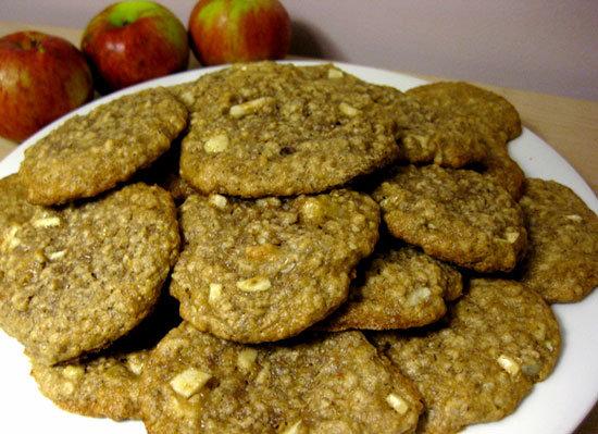 Apple Oatmeal Flax Cookies