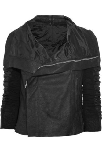 Rick Owens|Textured-leather biker jacket|NET-A-PORTER.COM