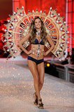 Alessandra Ambrosio walked down the runway at the Victoria's Secret fashion show in November 2011.