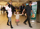 Nicole Kidman and Keith Urban took a flight to Las Vegas from Australia with daughters Faith and Sunday.