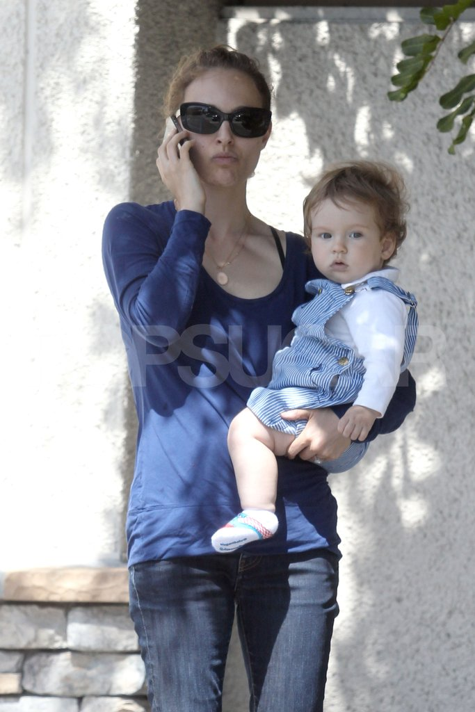 Aleph Millepied and Mom Natalie Portman Have a Sweet and Sunny Day Together