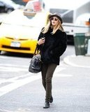 Elizabeth Olsen walked on the street in NYC.