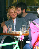 Josh Kelley and Katherine Heigl engaged in some lunch-time PDA.
