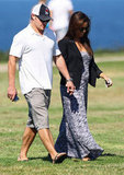 Nick Lachey and Vanessa Minnillo walked around Sydney.