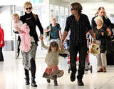 Keith Urban and Nicole Kidman travel as a family with daughters Faith and Sunday.