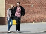 Emma Stone wore casual ballet flats.