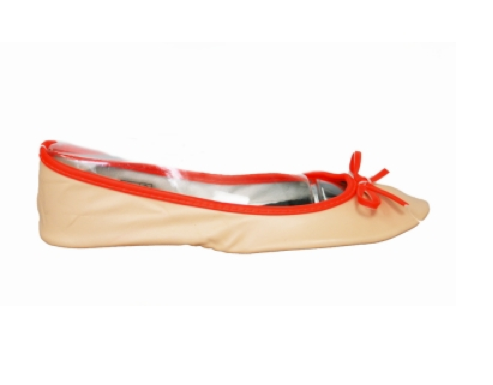 We love the neon orange piping here — a perfect pop of bright. Footzy Rolls Limited Edition in Nude With Orange ($30)