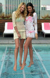 Candice Swanepoel and Miranda Kerr