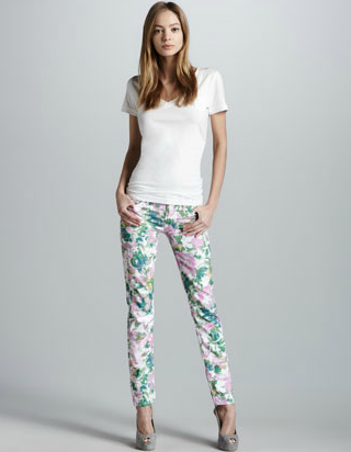 7 For All Mankind Kauai floral-print skinny jeans ($189)