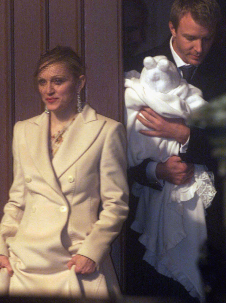 Madonna, Guy Ritchie, and their son, Rocco, left Dornoch Cathedral in Scotland following the couple's December 2000 nuptials.