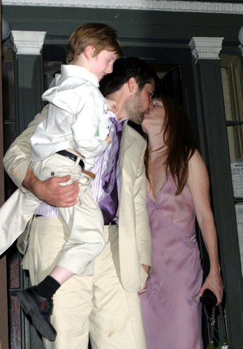 In August 2003, Julianne Moore and Bart Freundlich celebrated their vows in NYC with their son, Caleb.