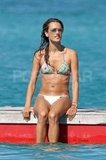Alessandra Ambrosio went for a swim during a break from shooting in St. Barts in December 2009.