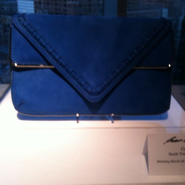 We had an elegant evening at the Standard Hotel to celebrate the launch of Brian Atwood's handbags, like this covet-worthy blue clutch.