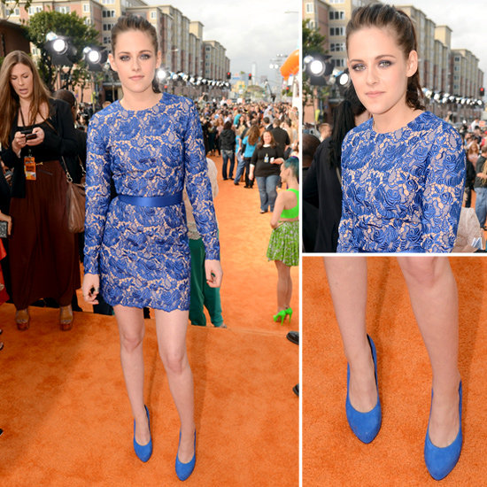 Kristen Stewart Makes a Case For Lace at the Kids' Choice Awards — See All the Angles!
