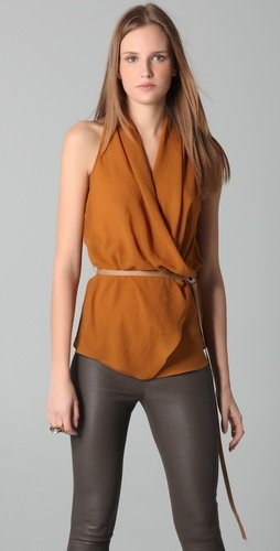 Helmut Lang Layered Belted Top