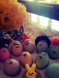 Ashlee Simpson's son Bronx had unique Easter eggs.