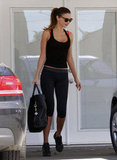 Miranda Kerr went to the gym.