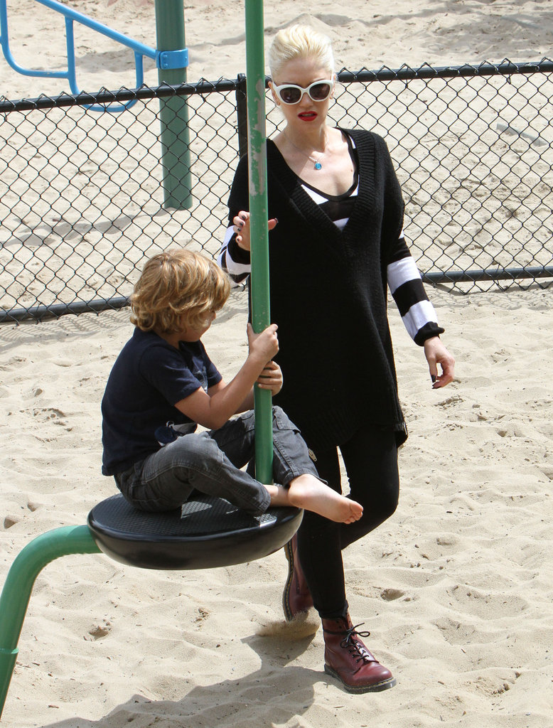 Gwen Stefani spent time with Kingston at an LA playground.
