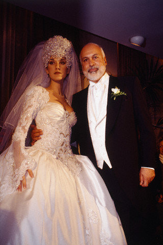 Céline Dion wed René Angelil in December 1994 at the Notre-Dame Basilica in Montreal, Quebec.