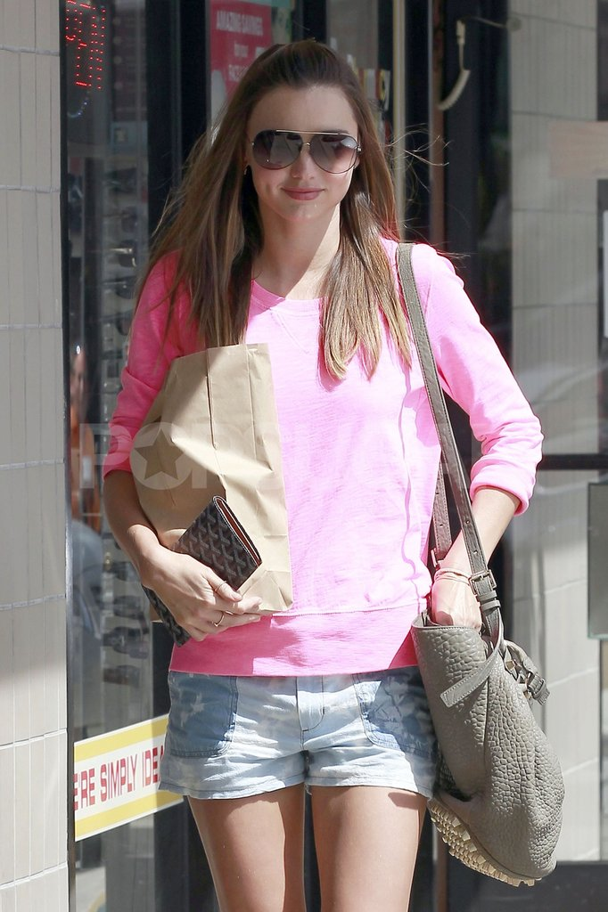 Miranda Kerr Goes From a Sexy Gym Date With Orlando to Hot Short Shorts in LA