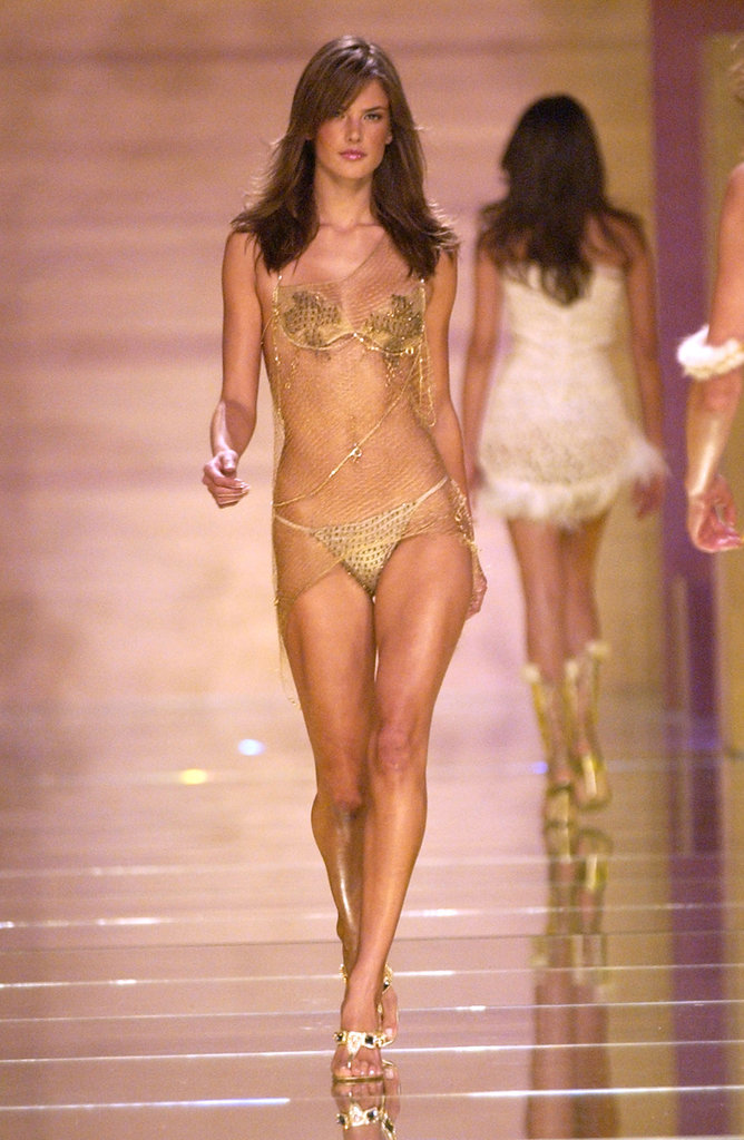 Alessandra Ambrosia attended the eighth annual Victoria's Secret fashion show in NYC in November 2002.