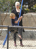 Gwen Stefani hung out with Kingston on an LA playground.
