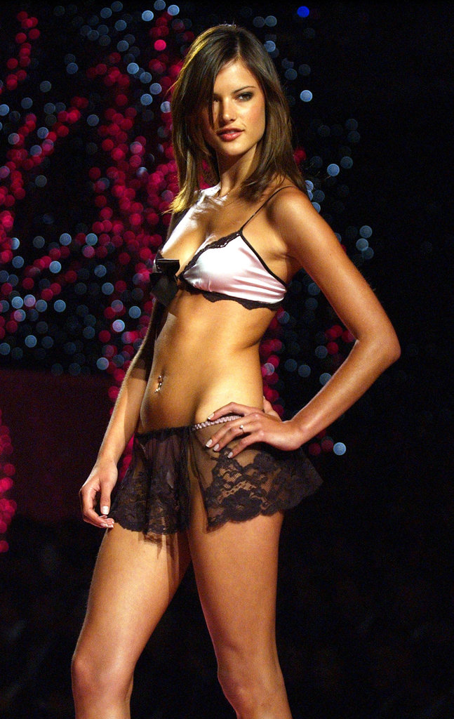 In 2001, Alessandra Ambrosio walked in the NYC Victoria's Secret fashion show.