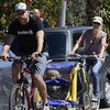 Naomi Watts and Liev Schreiber Biking With Kids Pictures