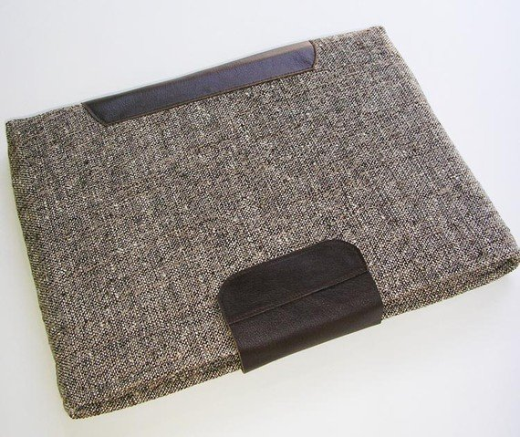 Tweed and leather iPad sleeve ($40)