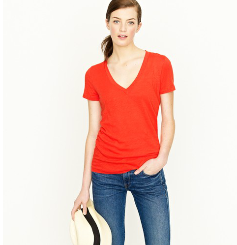 """""""I pretty much wear a v-neck tee every day, and J.Crew's comfy, tissue-thin tees are already a favorite of mine. I'm planning on ordering a few emblazoned with my initials for a slightly preppy, personal touch."""" — Brittney Stephens, assistant editor  J.Crew Vintage Cotton V-Neck Tee ($30 + $10 for monogram)"""