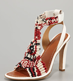 We are obsessed with these — the best part? They'll be just as good with our favorite pair of boyfriend jeans as they will a superchic cocktail dress. Chloé Tribal Crochet T-Strap Sandal ($845)