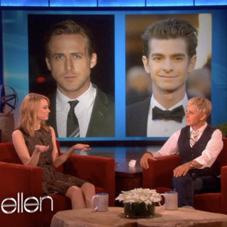 Emma Stone Talking Ryan Gosling on Ellen DeGeneres Video
