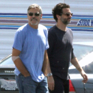 George Clooney Pictures on Set With Grant Heslov