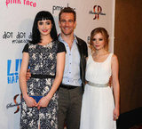 Krysten Ritter, James Van Der Beek, and Dreama Walker at the premiere of Life Happens in Century City.