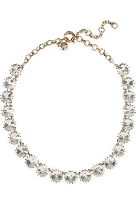 Offset a bare neckline with this sparkly find. J.Crew Venus Flytrap Crystal Necklace ($85)