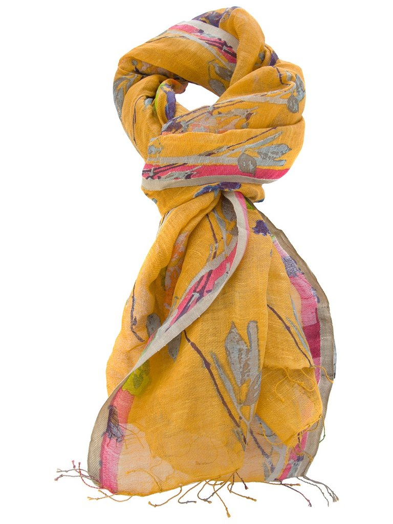 The rich saffron hue and delicate print will give your skin a Spring glow. Epice Printed Scarf ($175)