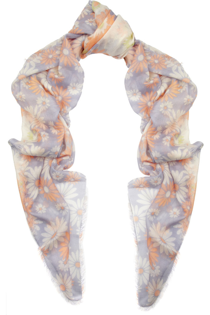 For the girlie girl, we think this soft pastel-meets-daisy print scarf covers all the bases. Marc Jacobs Daisy-Print Wool and Silk-Blend Scarf ($395)