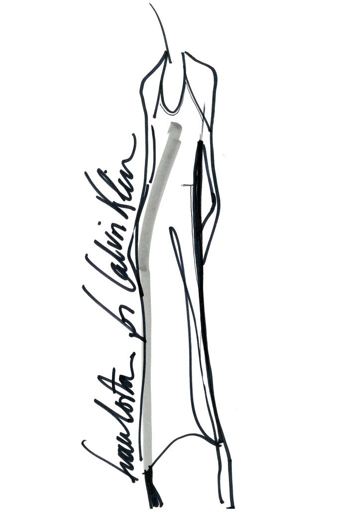 A sketch from Francisco Costa's Calvin Klein capsule collection for Macy's.