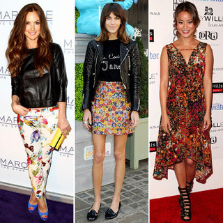 Mixing Florals and Leather For Spring