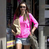 Miranda Kerr Pink Top and Short Shorts Pictures at Pharmacy in LA