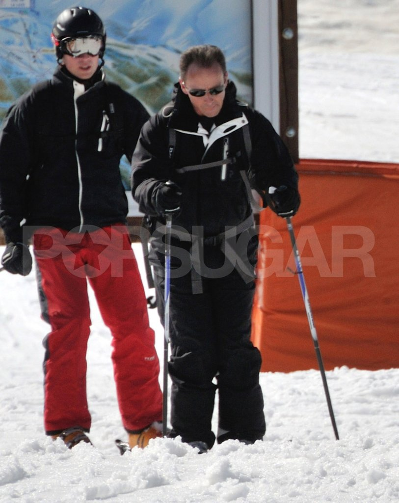 Prince William on a ski vacation in France.